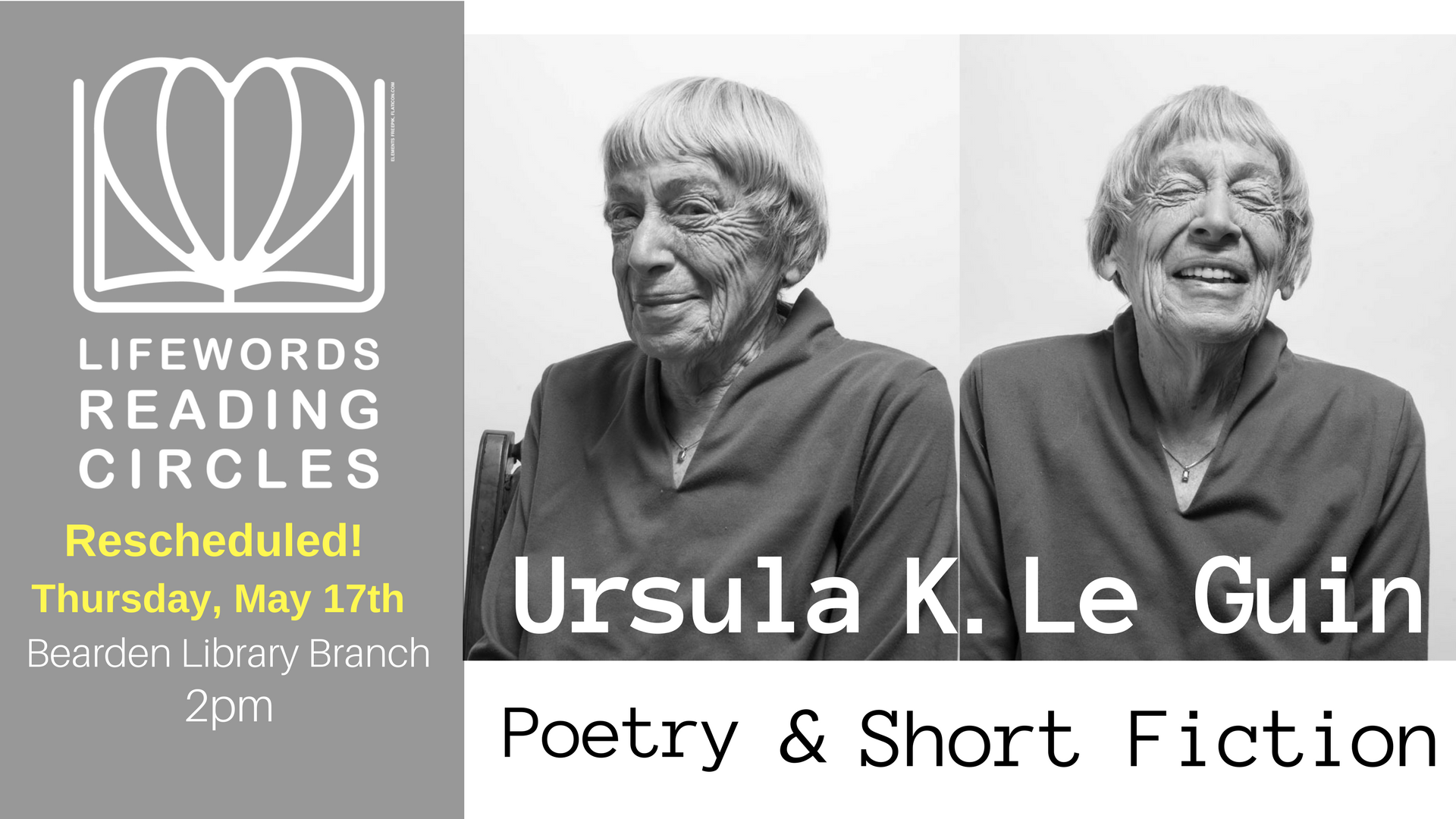 LWRC - Ursula K. Le Guin - Rescheduled Facebook Event Image.png