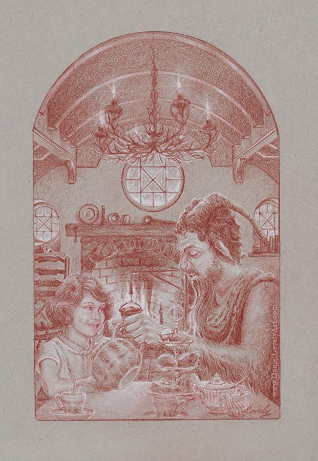 "Tea With Mr. Tumnus - 12"" X 9"""