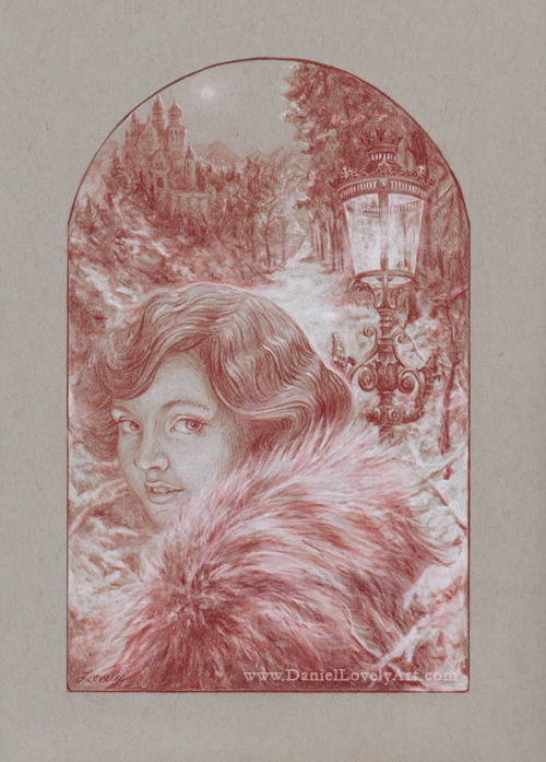 """Lucy In Narnia - 12"""" X 9"""""""