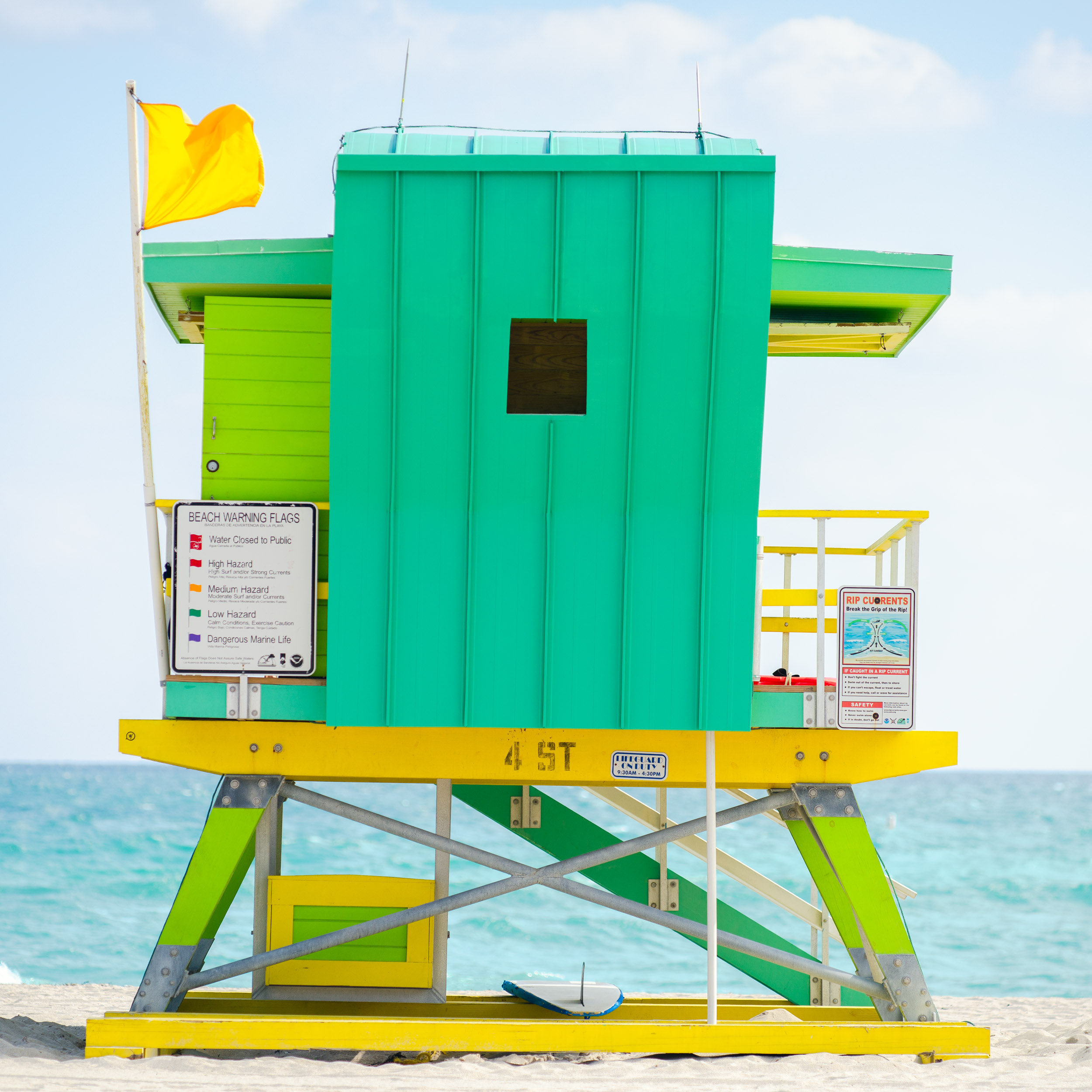 4th St. Miami Lifeguard Stand - Rear View