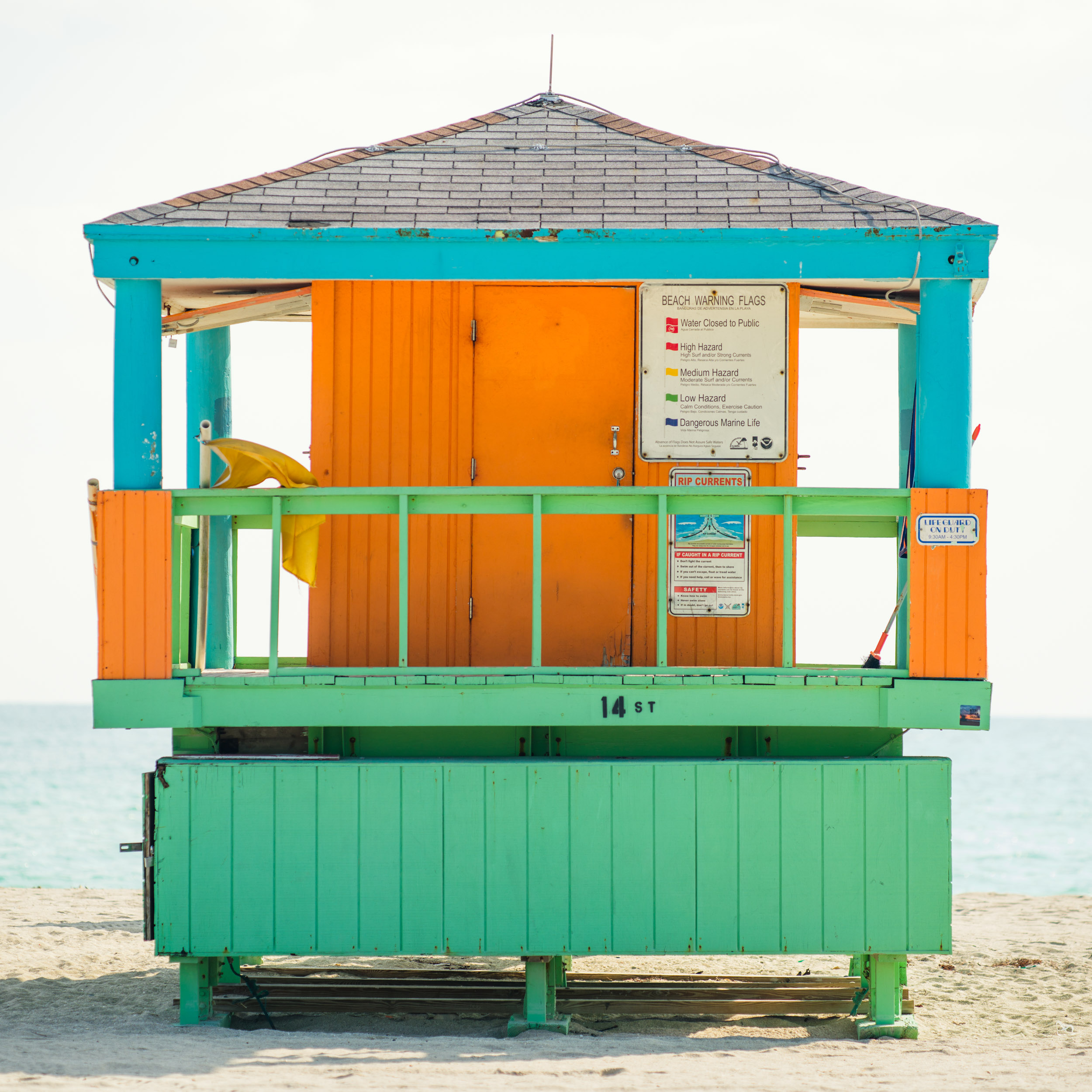 14th St. Miami Lifeguard Stand - Rear View