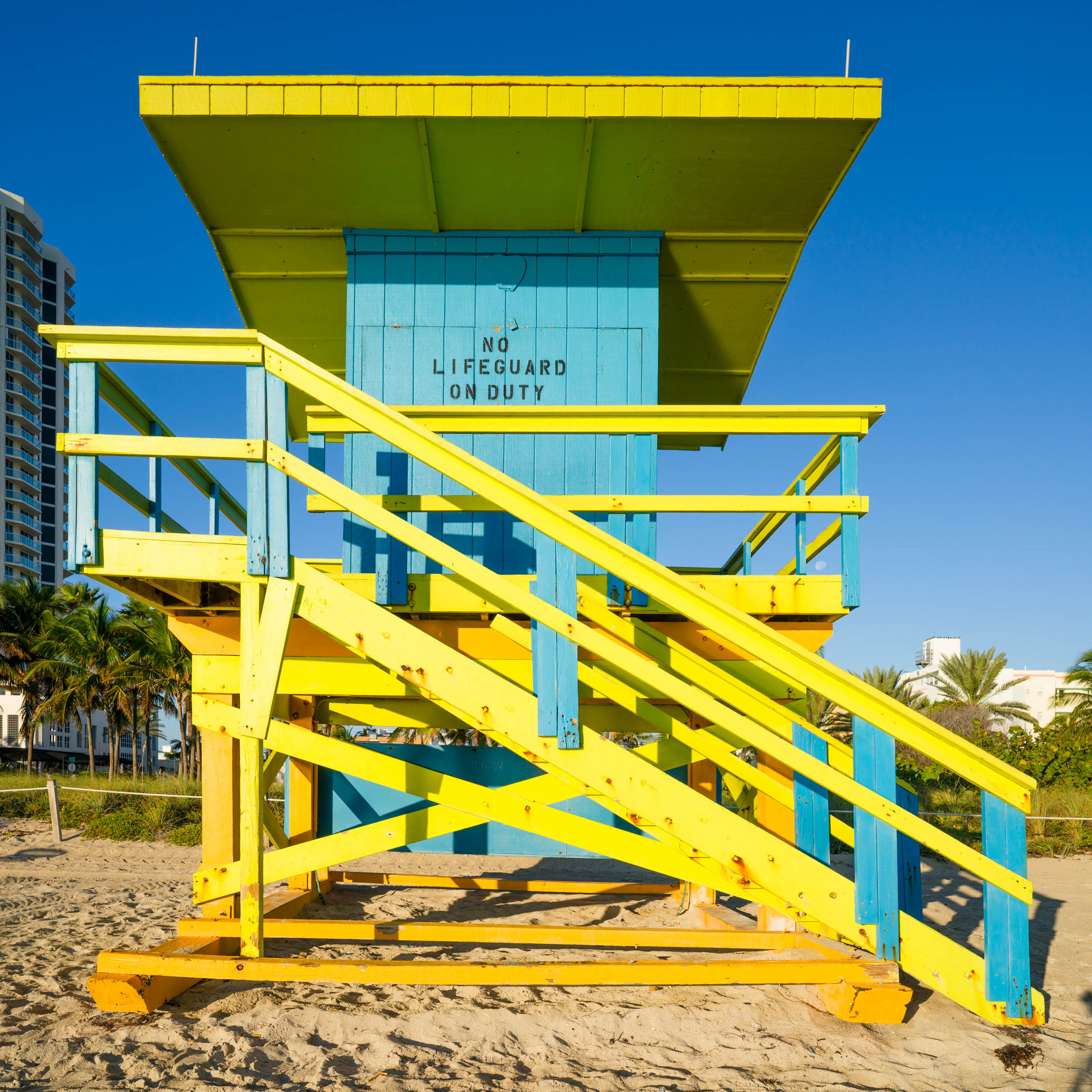 74th St. Miami Lifeguard Stand - Front View