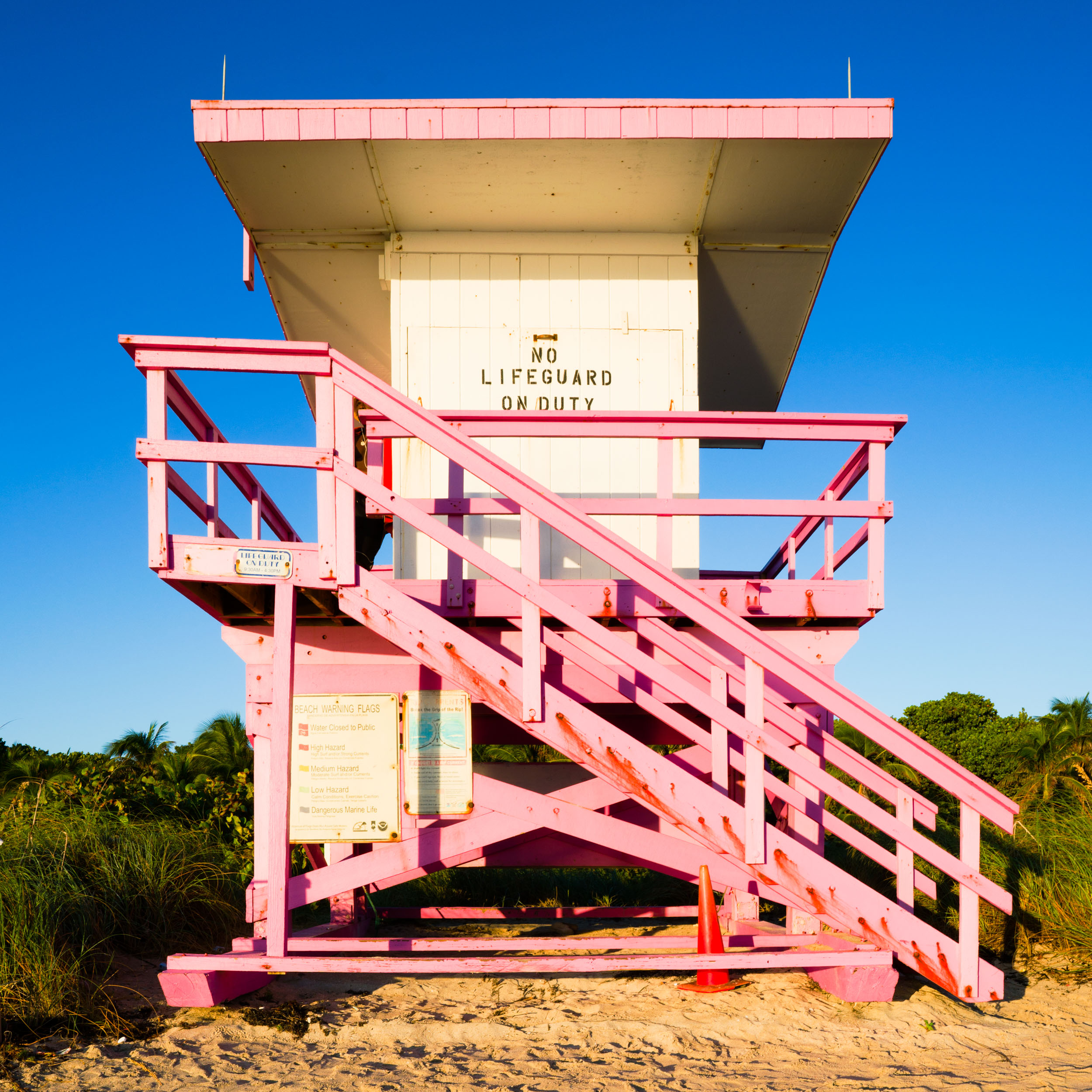 83rd St. Miami Lifeguard Stand - Front View
