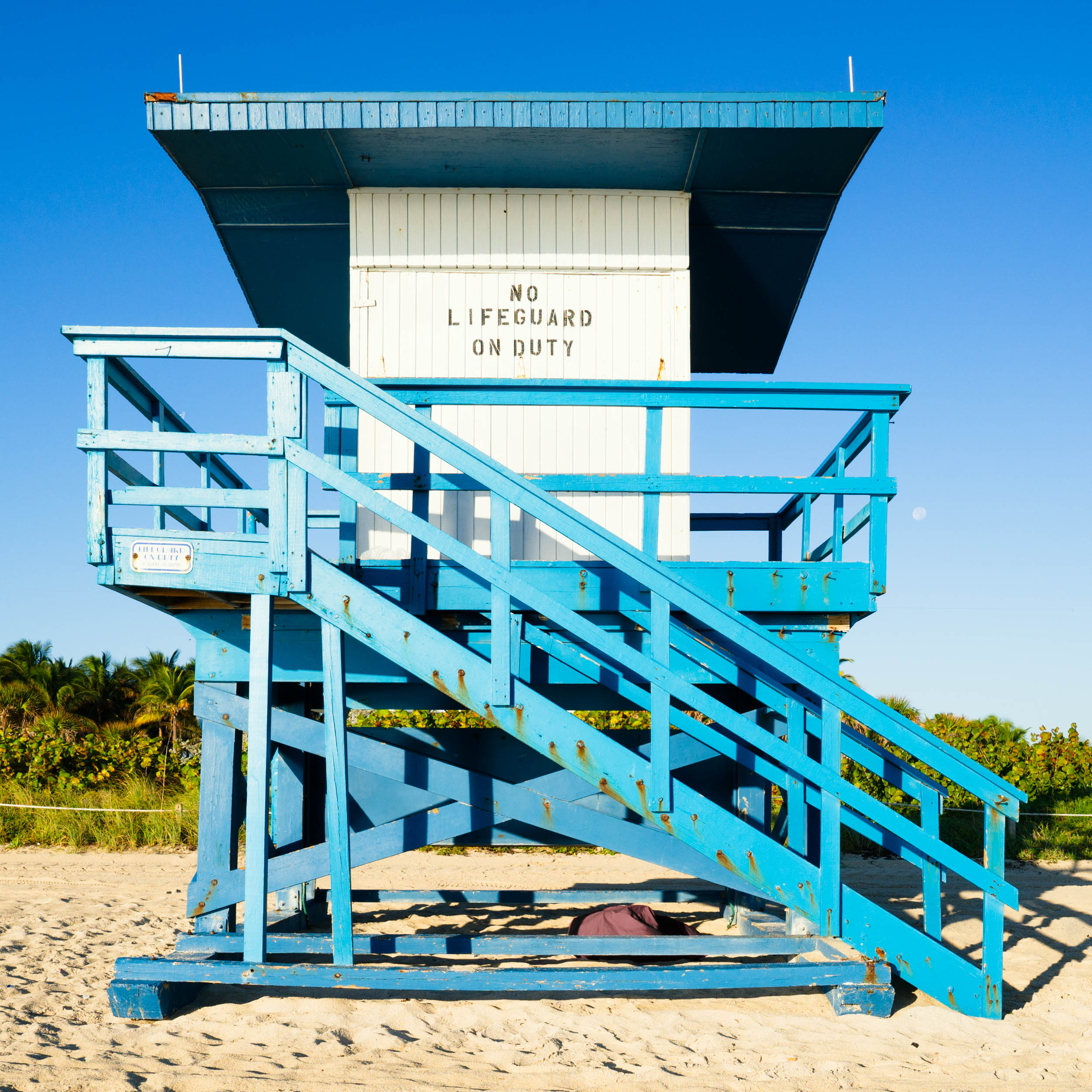 72nd St. Miami Lifeguard Stand - Front View