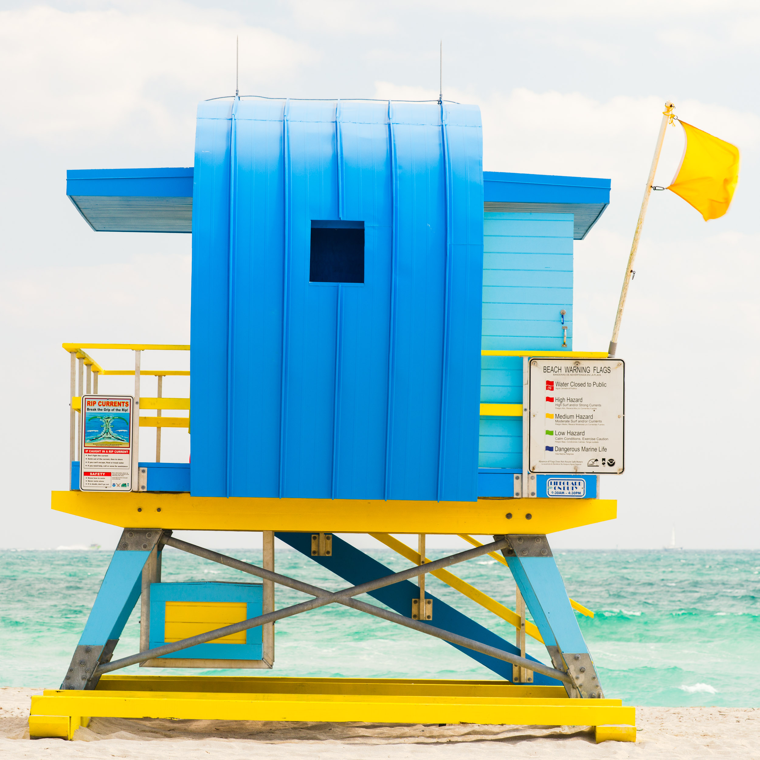 South Pointe Miami Lifeguard Stand - Rear View