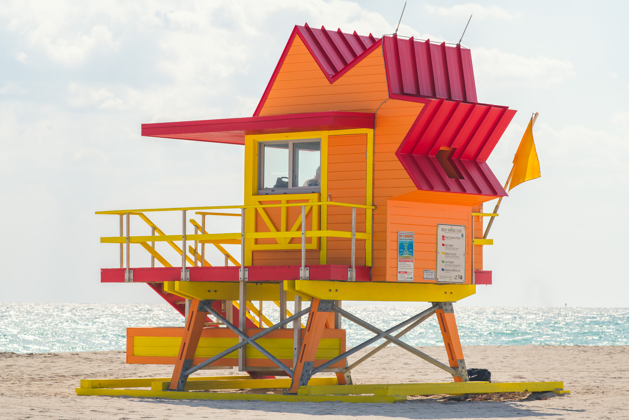 8th Street lifeguard stand - another recent design that playfully adds another sunny element to the beach environment