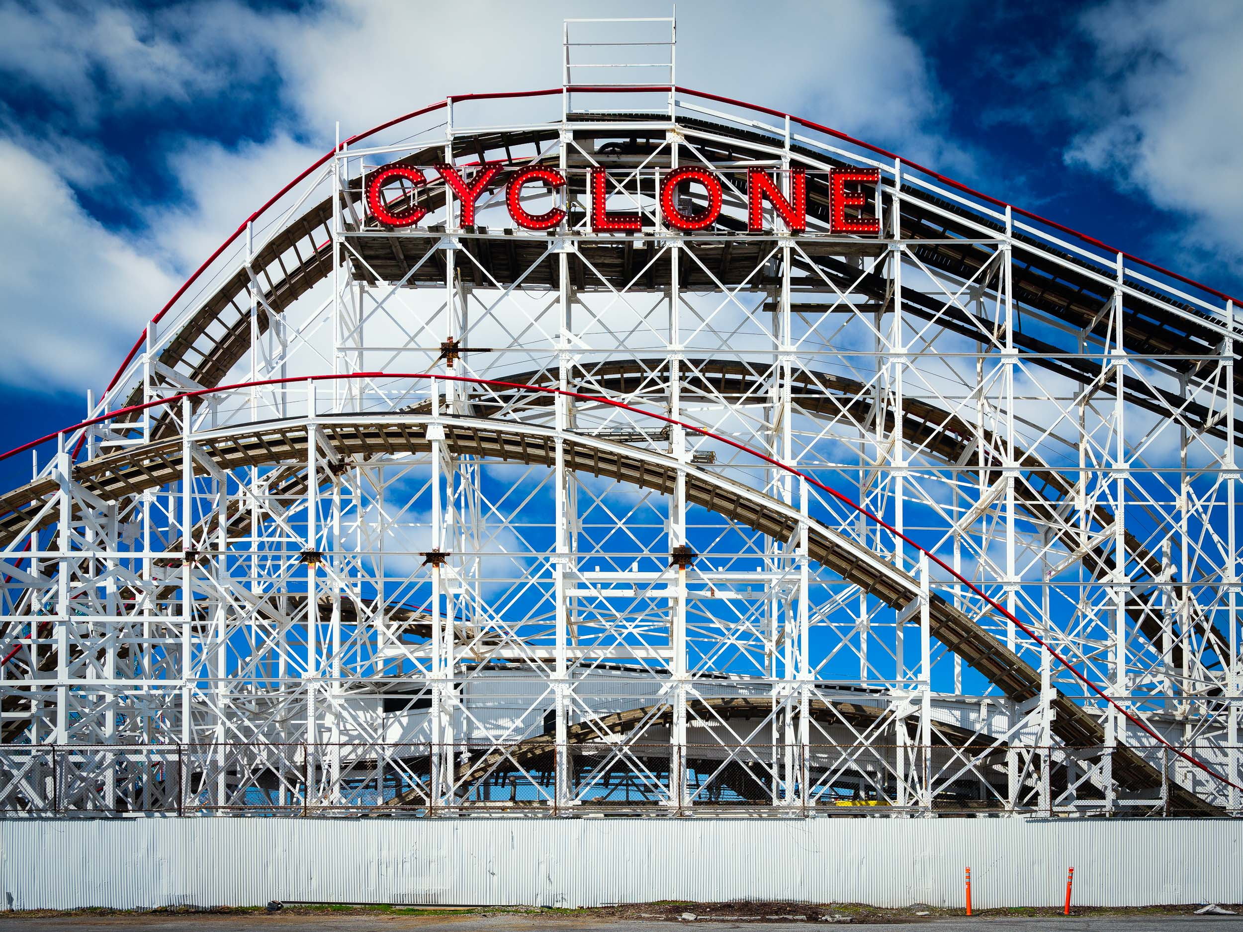 The iconic Cyclone roller coaster, built in 1927