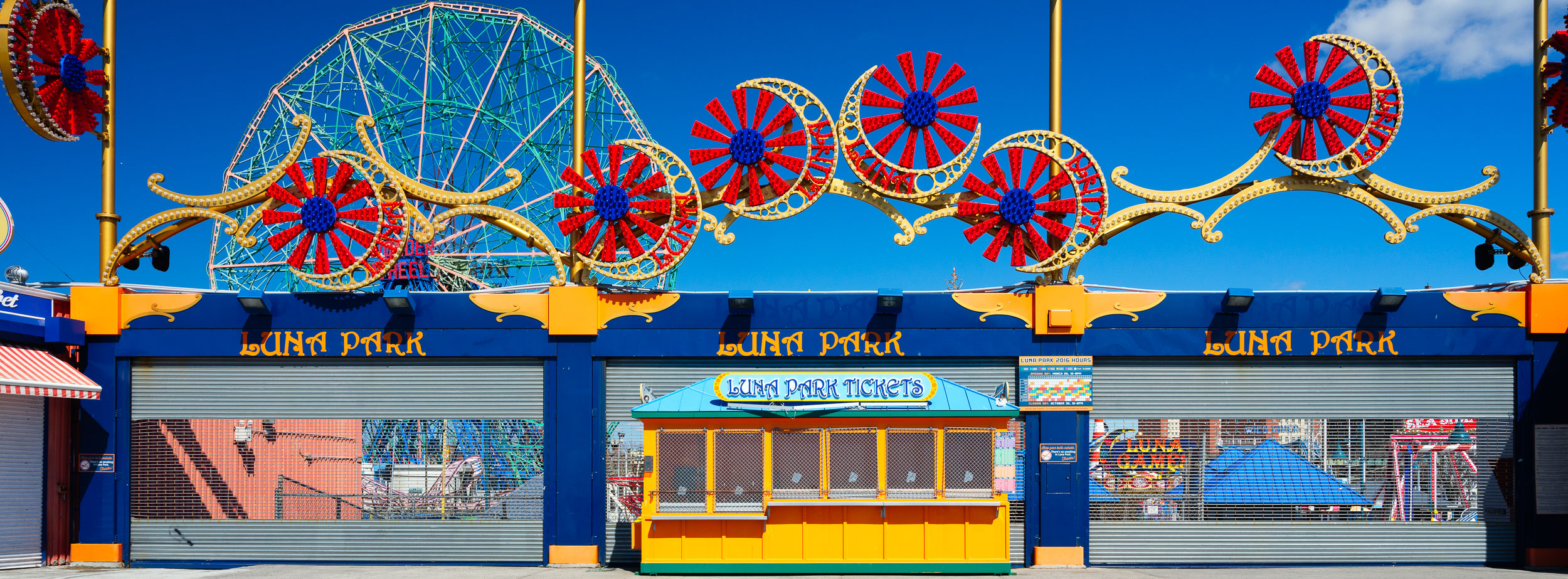 Luna Park entrance - beautifully painted and ready for opening day