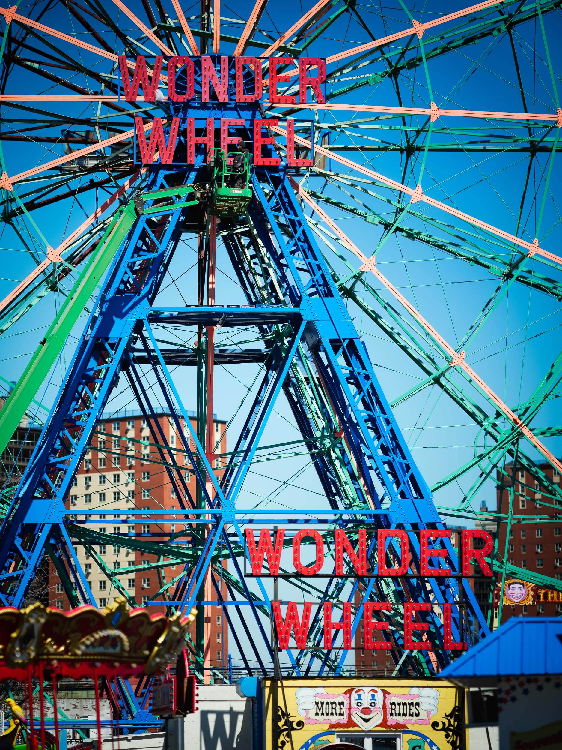 The Wonder Wheel was built in 1918 and opened in 1920