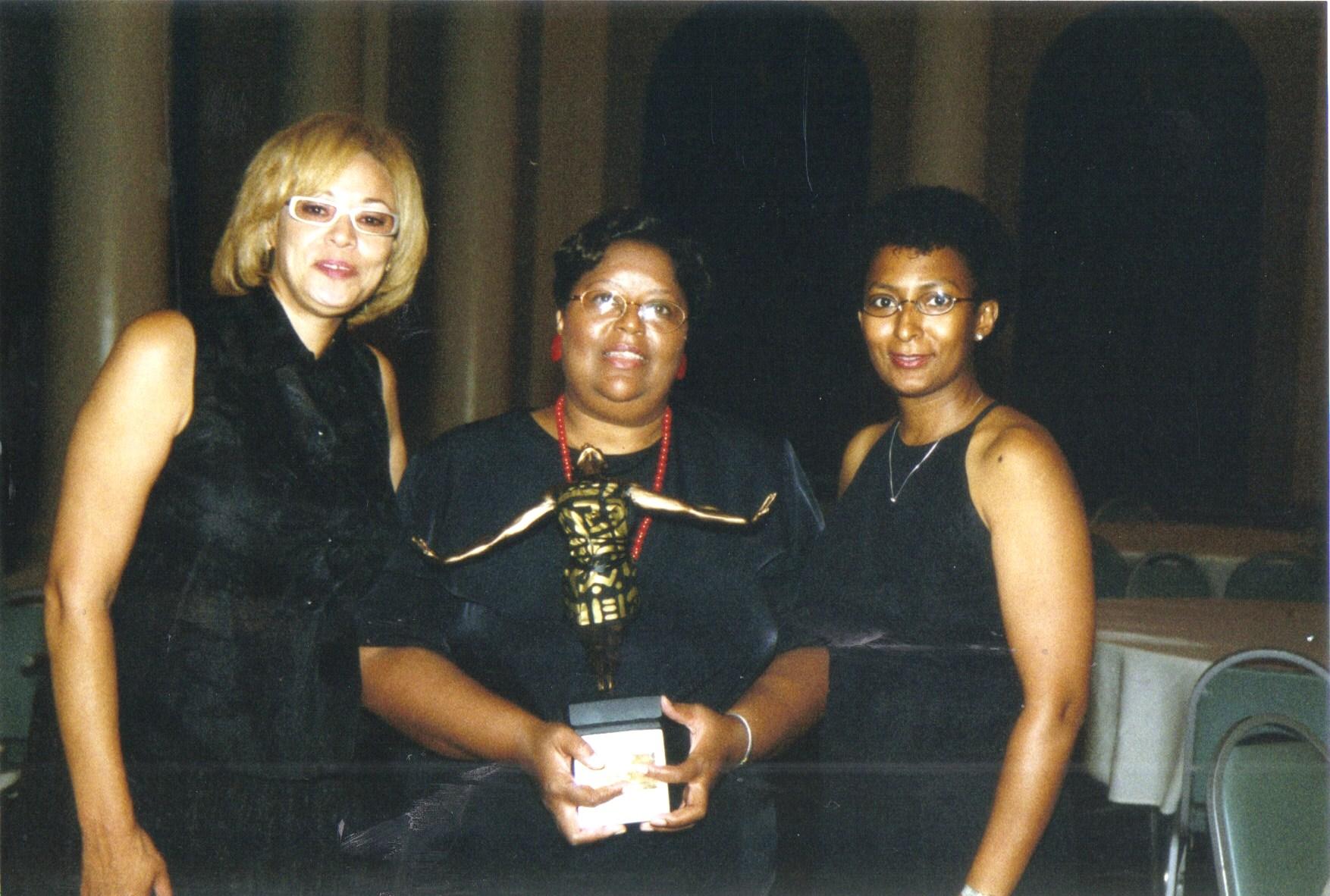 2000 - [Left to Right] Susan Ellis, Irma Ward, Ameera Ashraf O'Neil