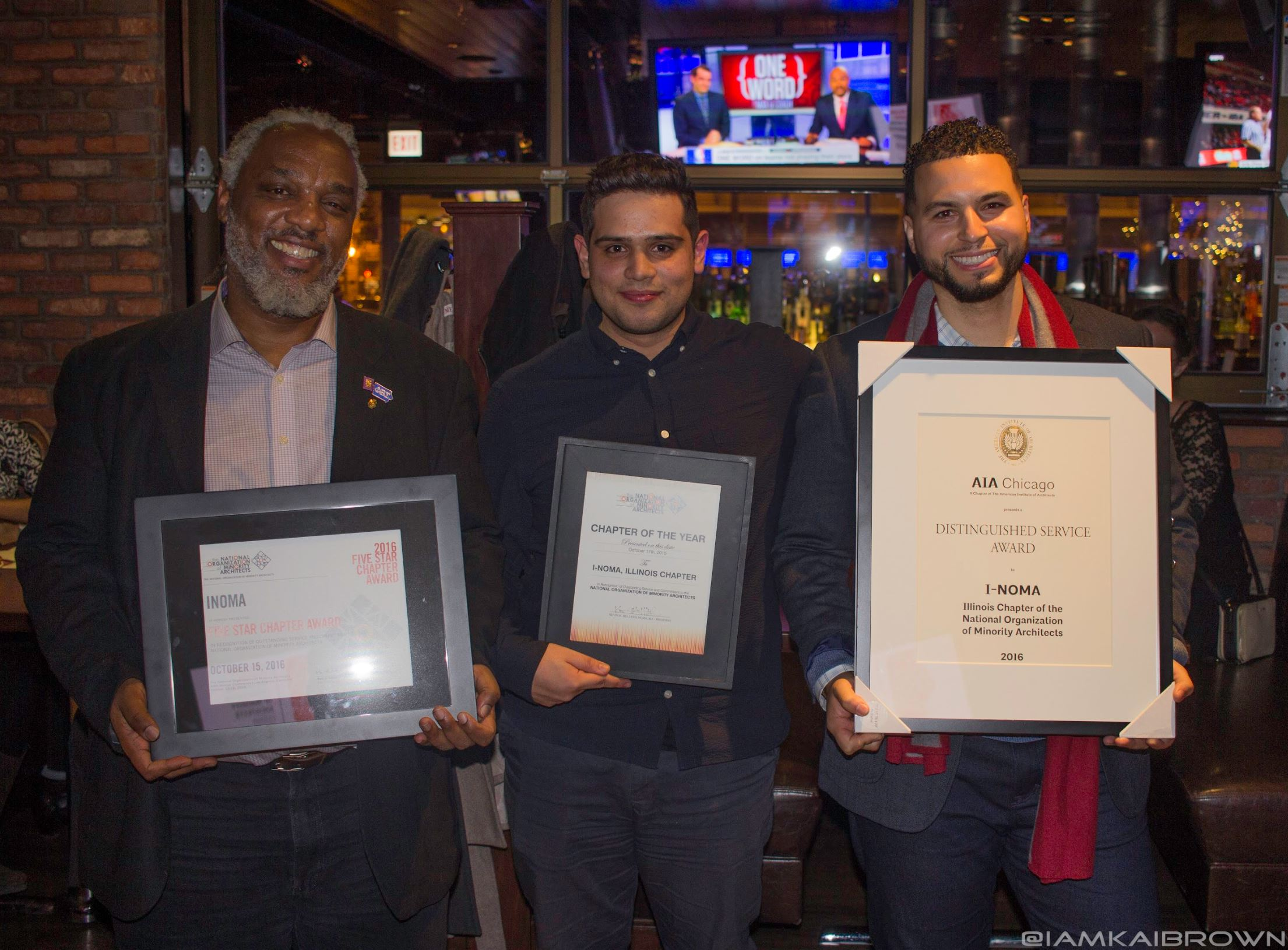 2017 - [Left to Right] Bryan Hudson, Christian Pereda, Oswaldo Ortega - I-NOMA Accolades from NOMA and AIA