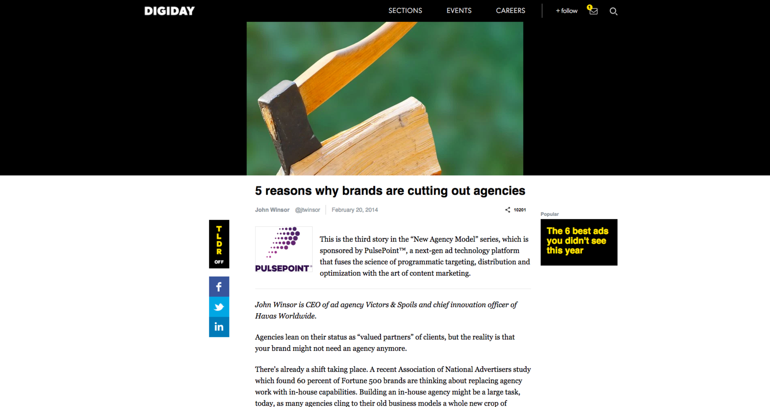 5 Reasons Why Brands are Cutting Out Agencies
