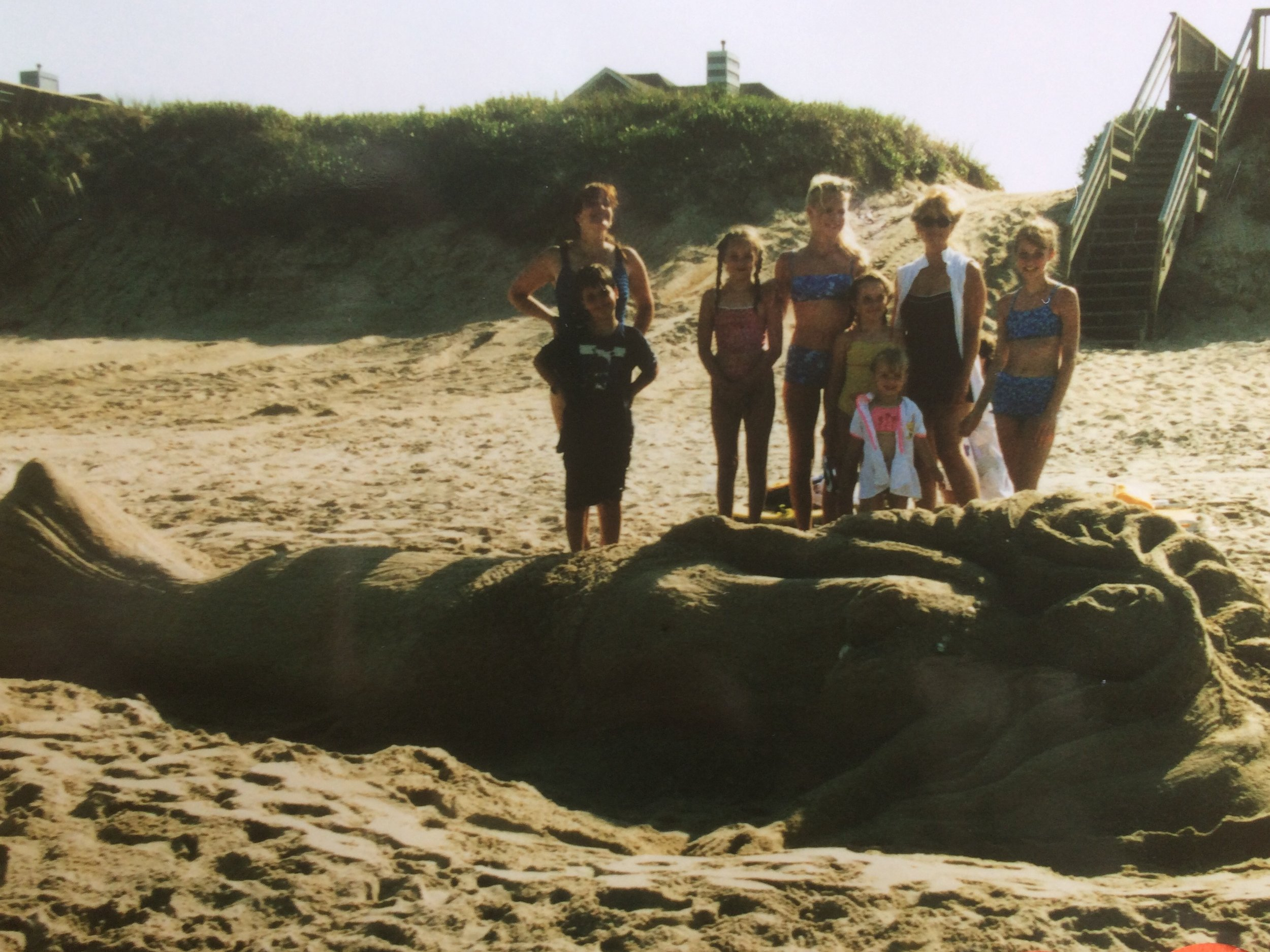 No beach trip was complete without our family building some huge sand sculpture!