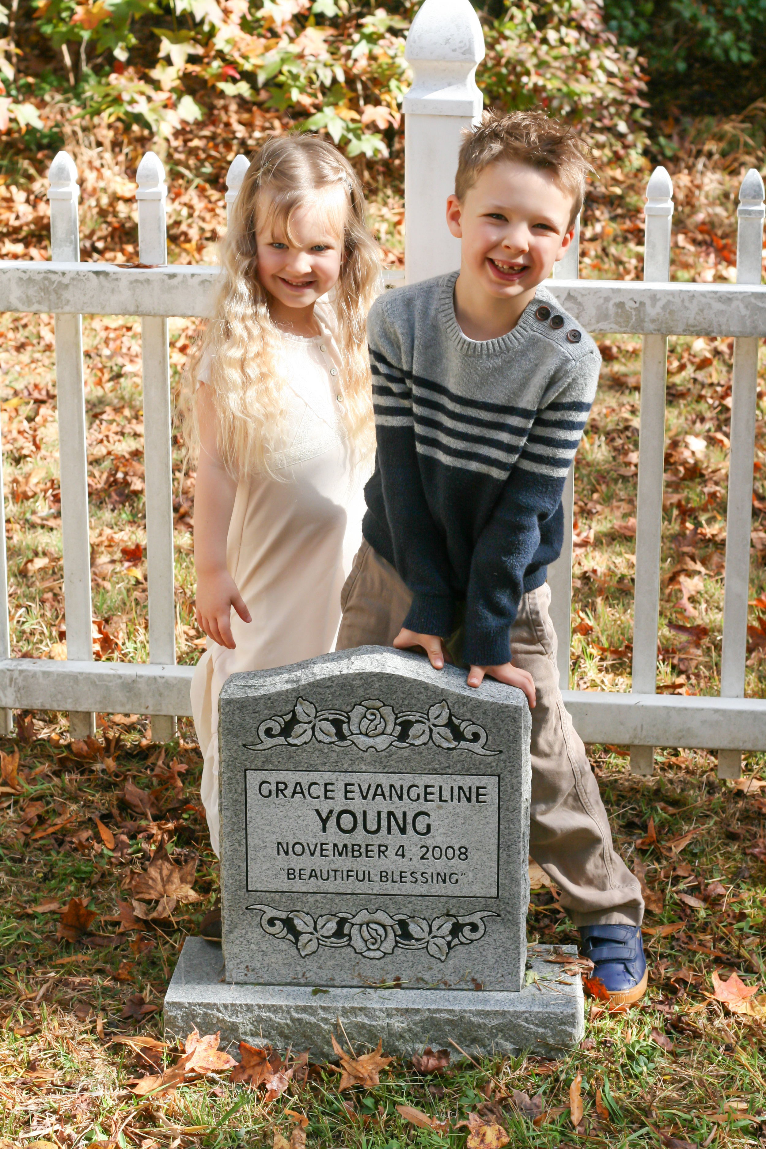 They've grown up with an understanding of life and how precious and fleeting it is. Little 7-pound Grace gave them this gift