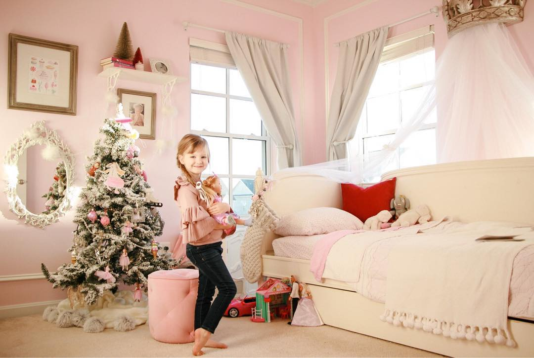All the kids love decorating their rooms for Christmas! They put their ornaments on their trees themselves.