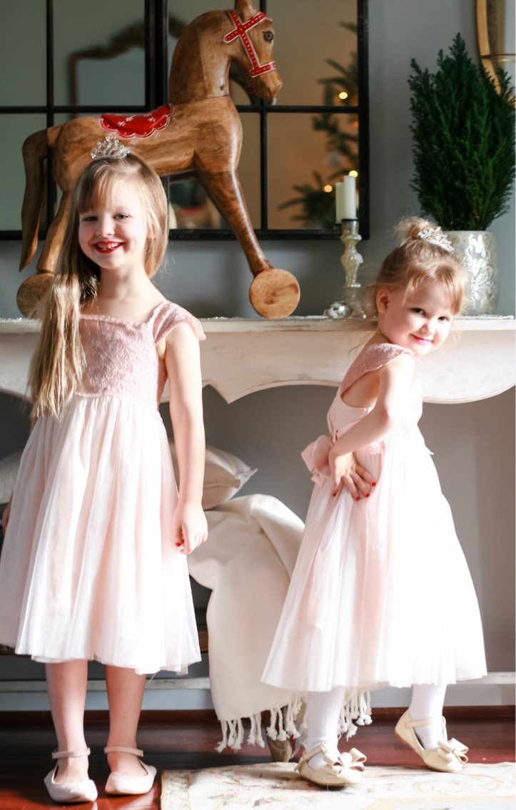 The girls love getting dressed up to match the characters in the ballet.
