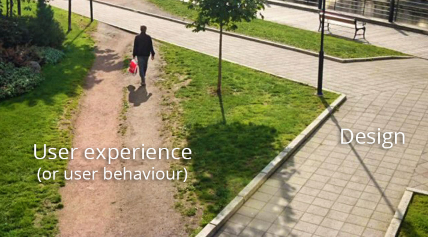 User Experience Design - Shown by how pedisterians do not stay on a straight path
