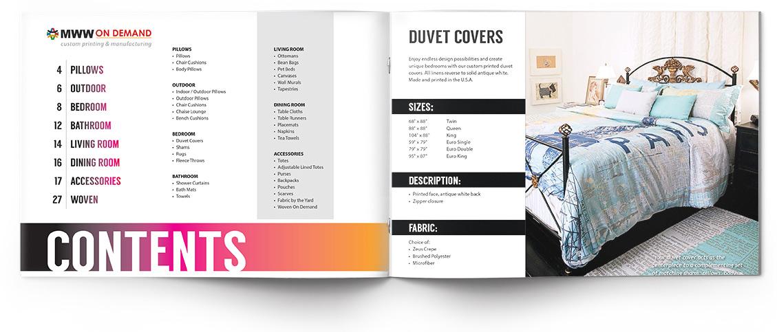 MWW catalog design by Neff Creative. Photo displays layout of magazine and graphic design portfolio by Heather Shirin Neff, a local Asheville Graphic Designer.