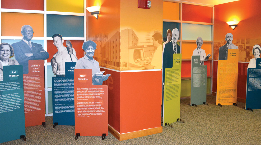 We worked with Tumey Medical Hospital on their graphic design installment for their centennial celebration!