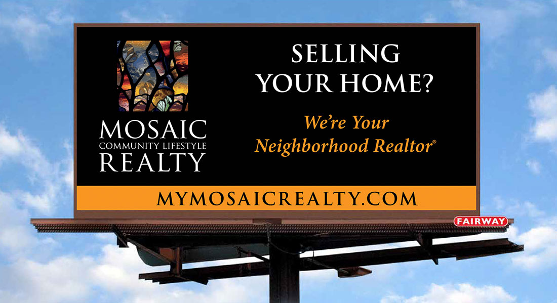 Billboard for Mosaic Realty - Graphic Designer Services in Asheville NC