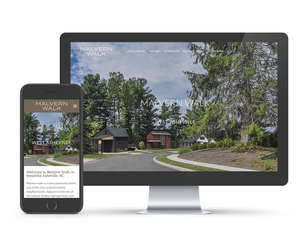 Malvern Walk uses Squarespace to display their homes for sale. We design exclusively in Squarespace and offer website packages for the Asheville area.