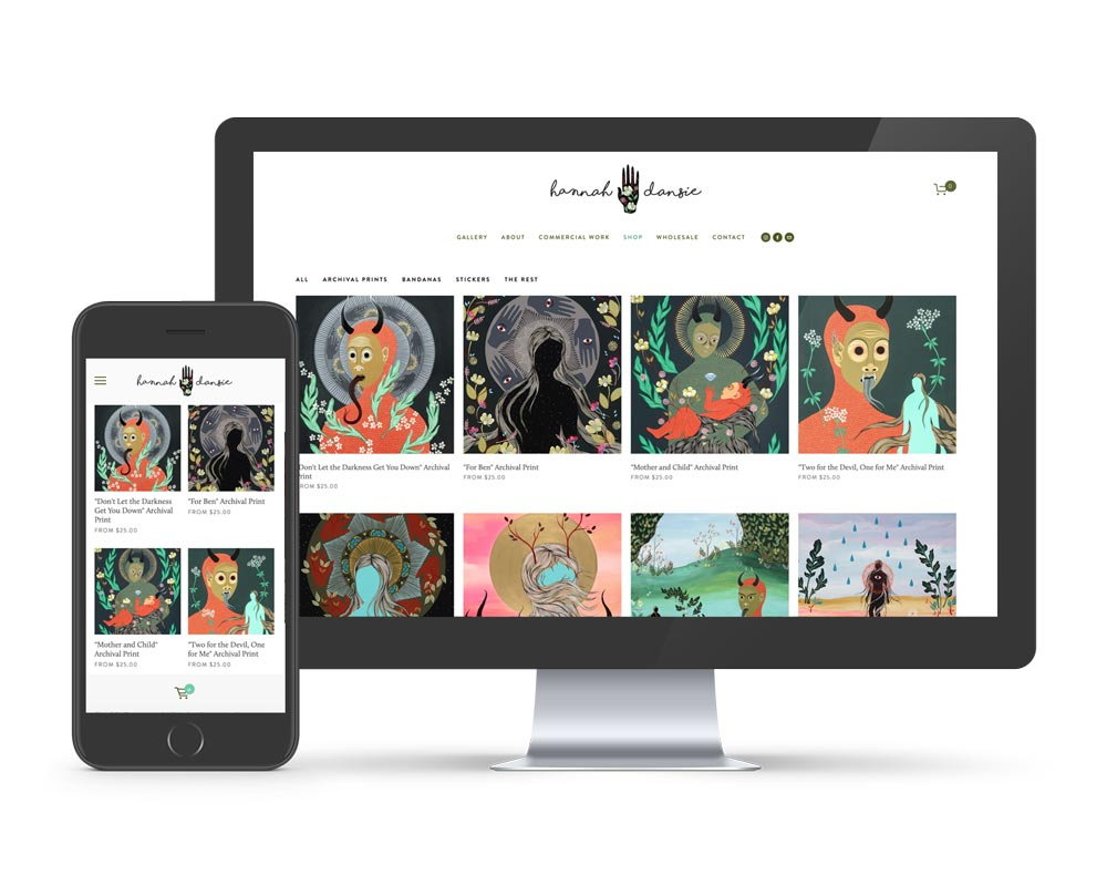 We design beautiful Square space websites here in Asheville. Showing Heirloom Counseling website design.