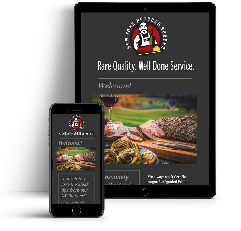 Newsletter Design for NY Butcher Shoppe, Asheville NC