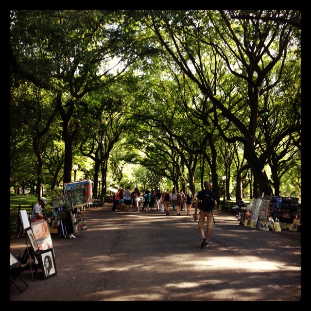 A pic from our first stroll through Central Park