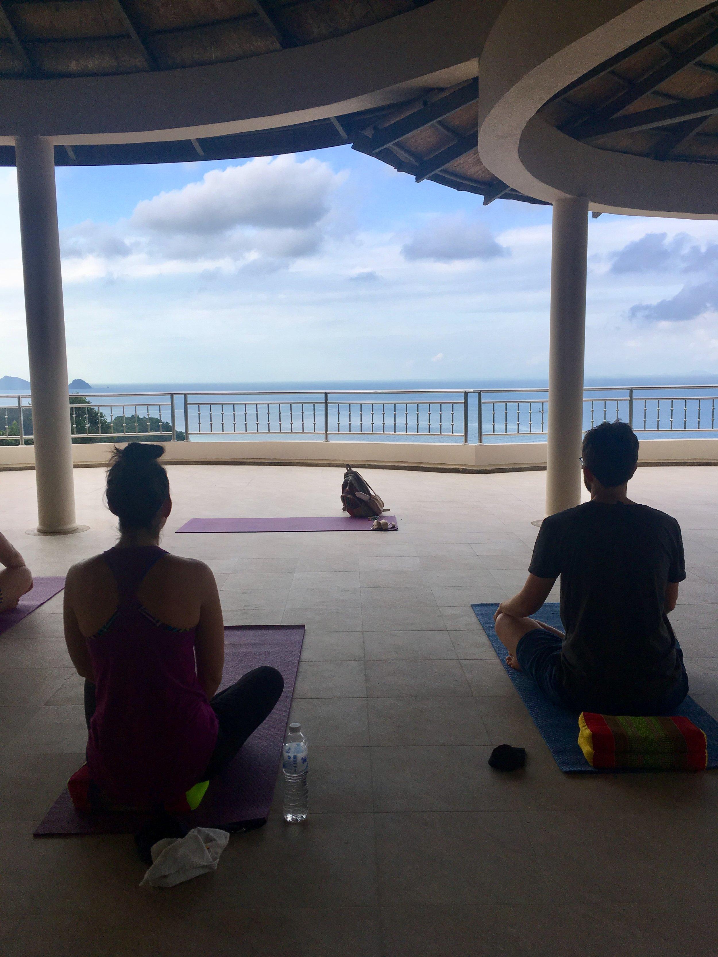 Morning yoga at Sunset Hill Resort