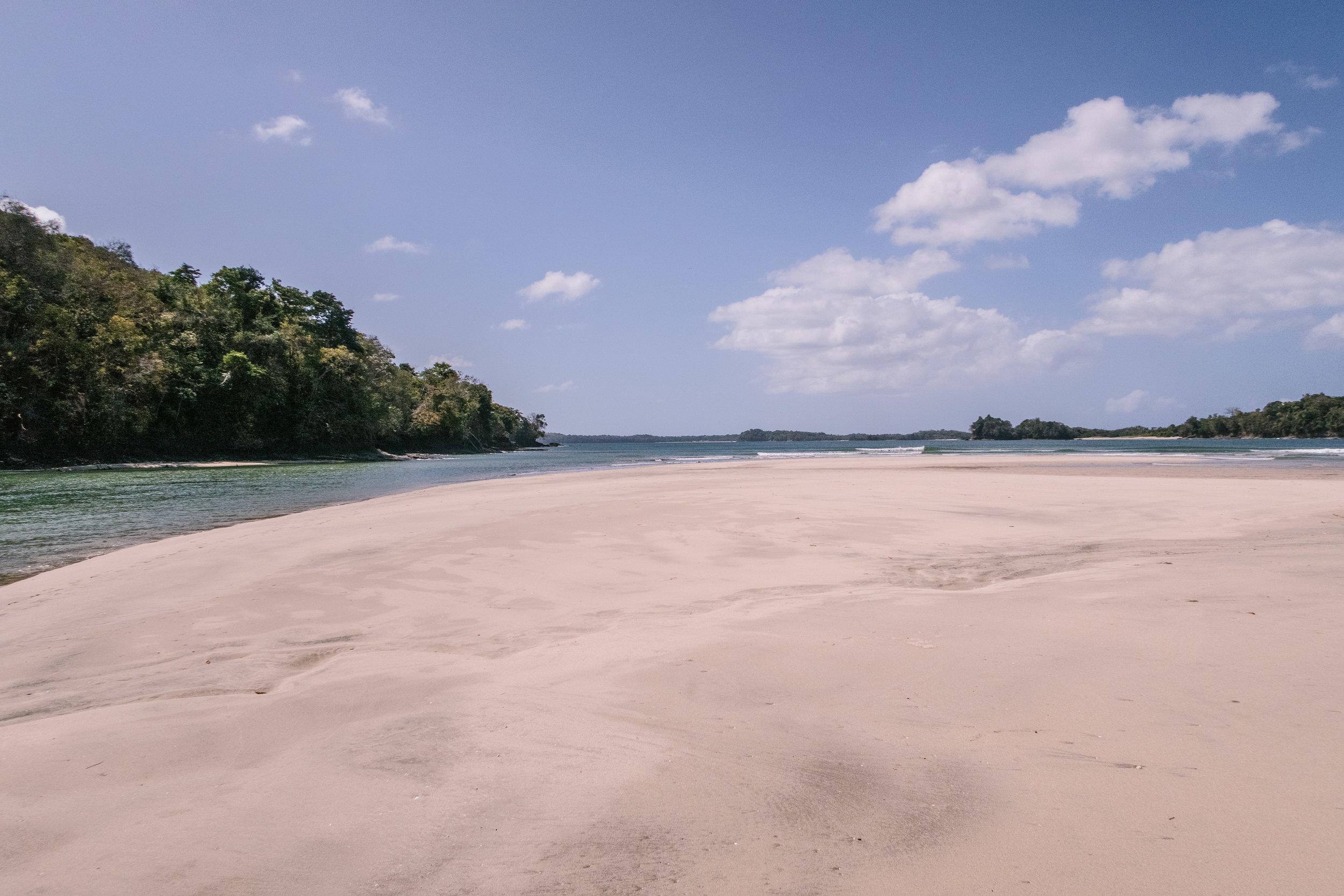 End of our walk along Rio Cacique - Isla del Rey