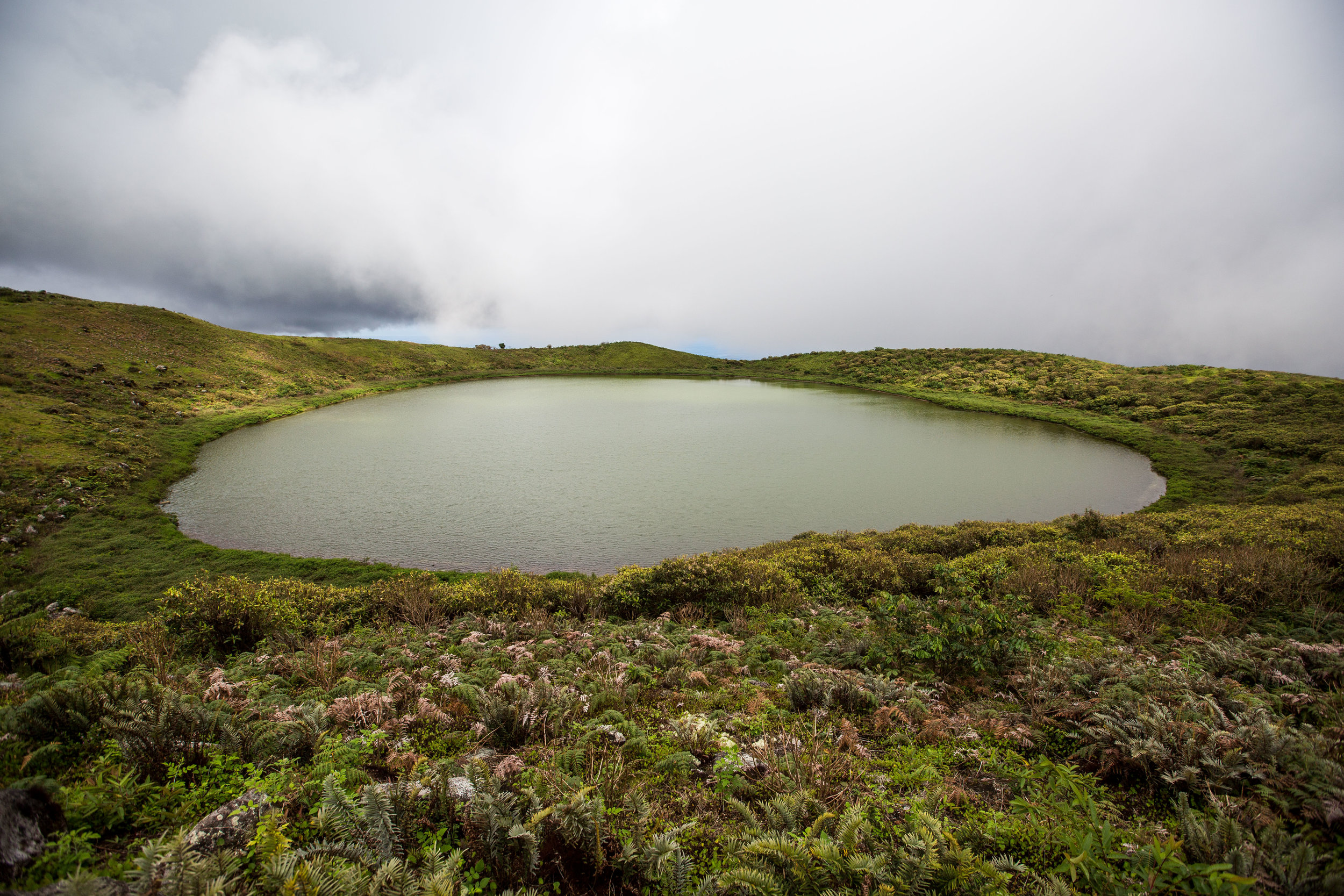 - Laguna El Junco/The El Junco Lake perched on the heights of San Cristóbal