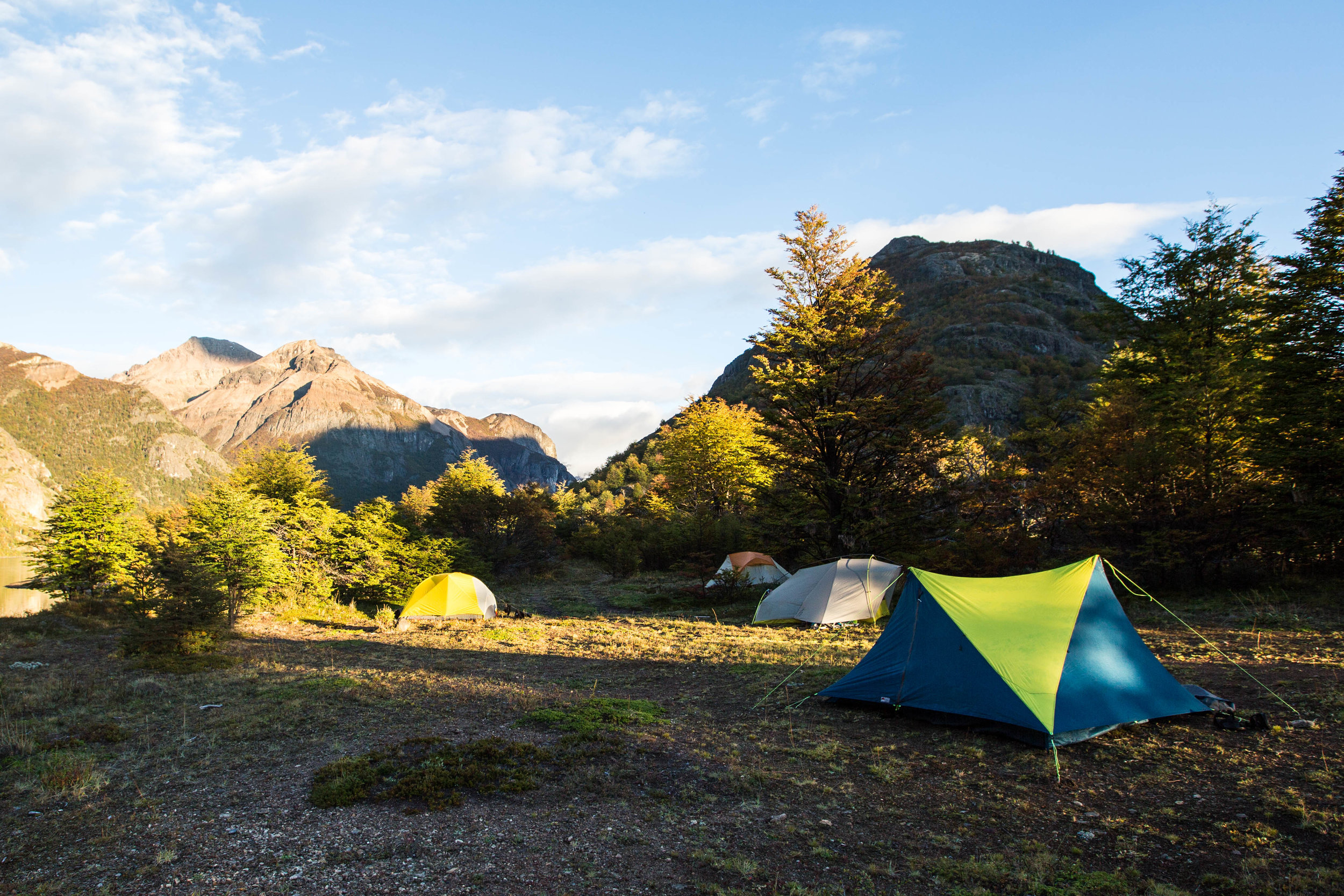 Our first night's camp, with our YAMA Mountain Gear tent