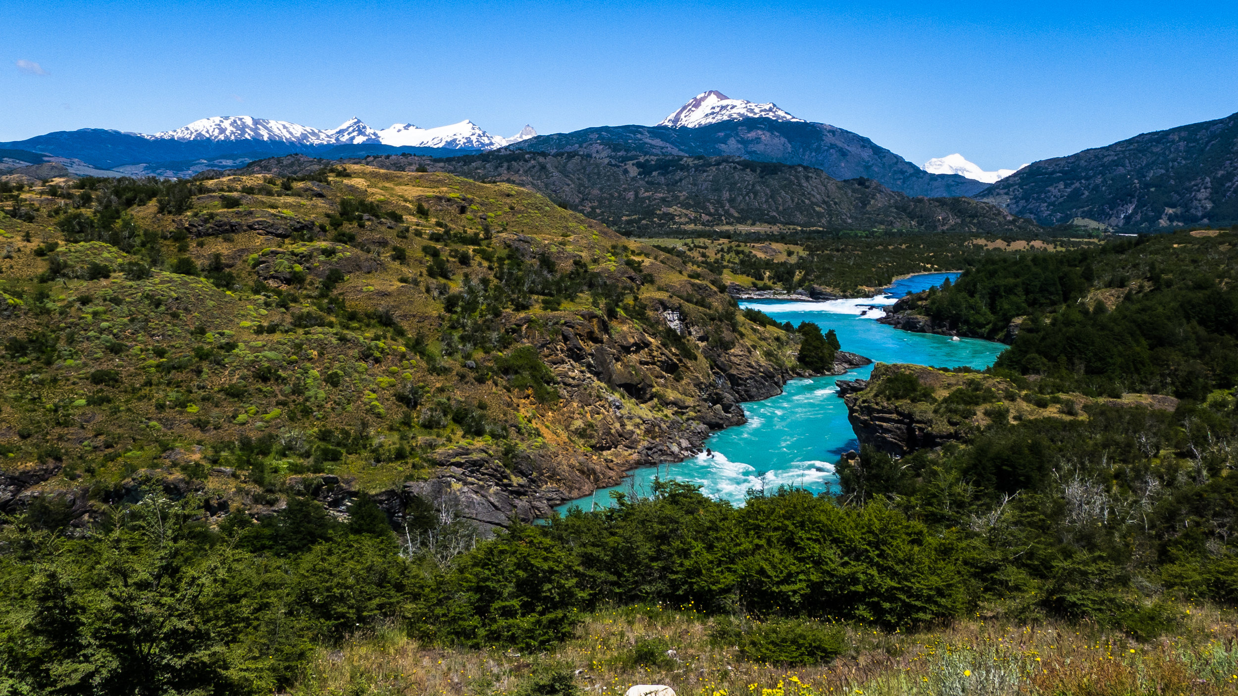 Blue waters of the Baker River -