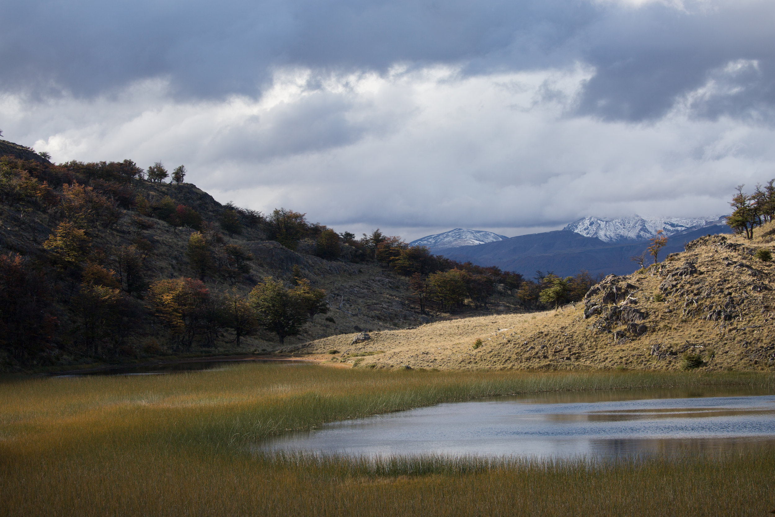 One of the many views along the Lagunas Altas Trail -