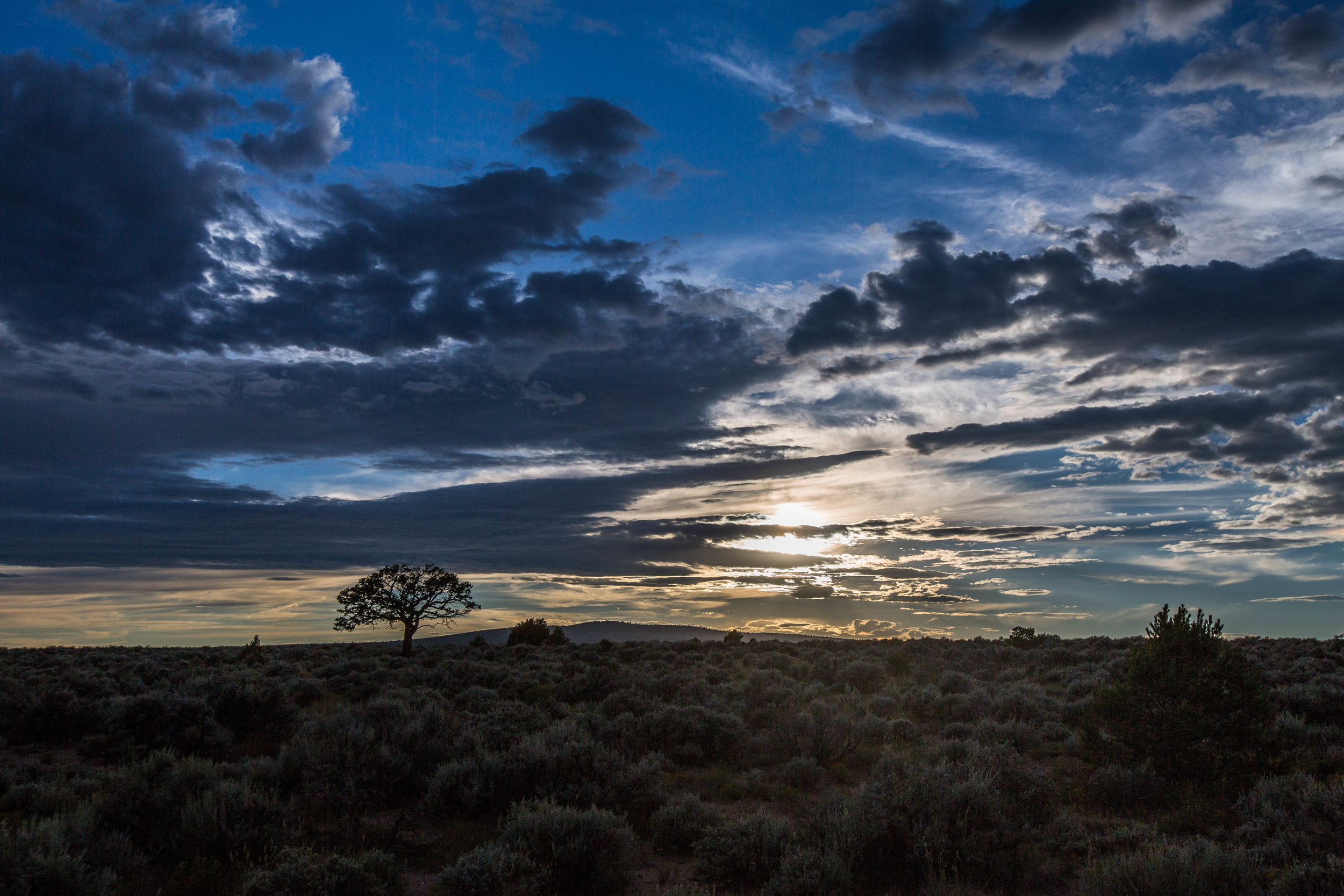 taos plateau - Sunset over the sagebrush plains of the Taos Plateau volcanic field at Rio Grande del Norte National Monument, New Mexico.