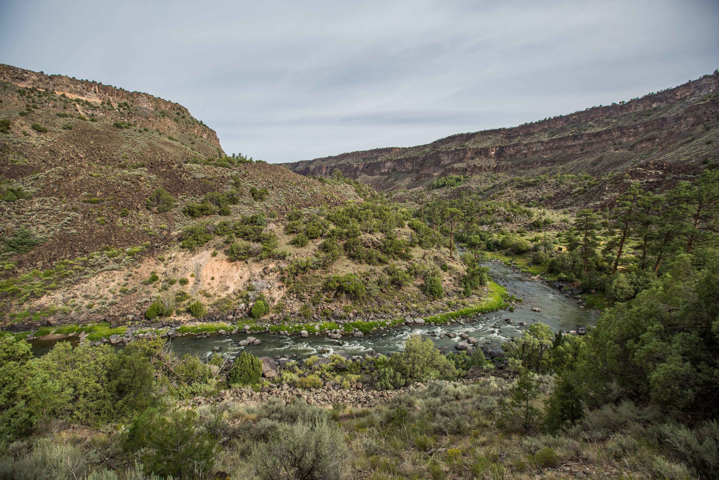 rio grande del norte - The Rio Grande Gorge, flowing through the Rio Grande del Norte National Monument. This gorge was actually formed as part of the Rio Grande Rift, but has been also carved by water over the years. If you cannot see the brown and rainbow trout, you'll just have to go there yourself.