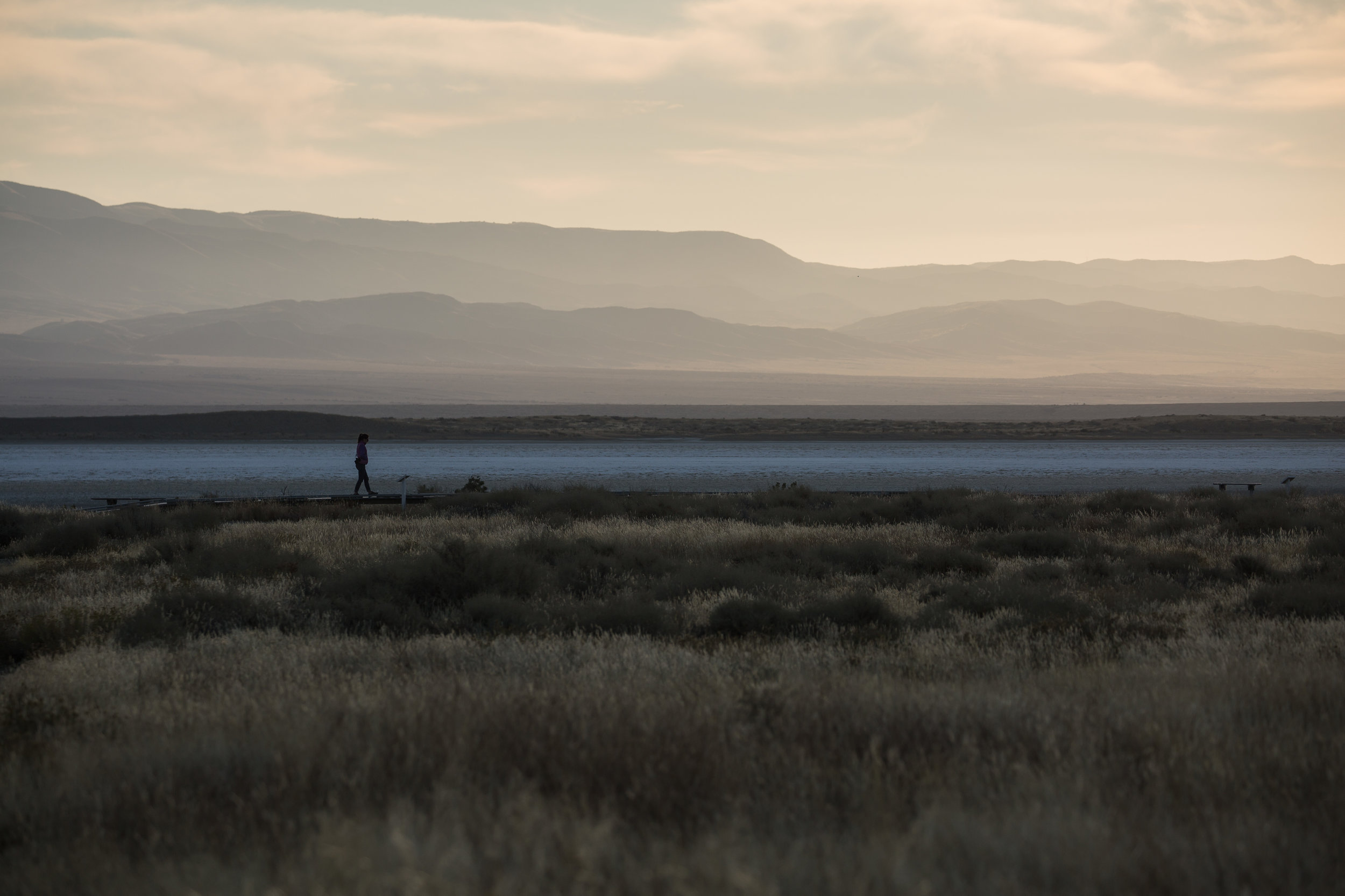 sunrise on soda lake trail - The Soda Lake Trail, centrally located within the monument, has interpretive signs that give a brief history of the region and the importance of its ecosystems.