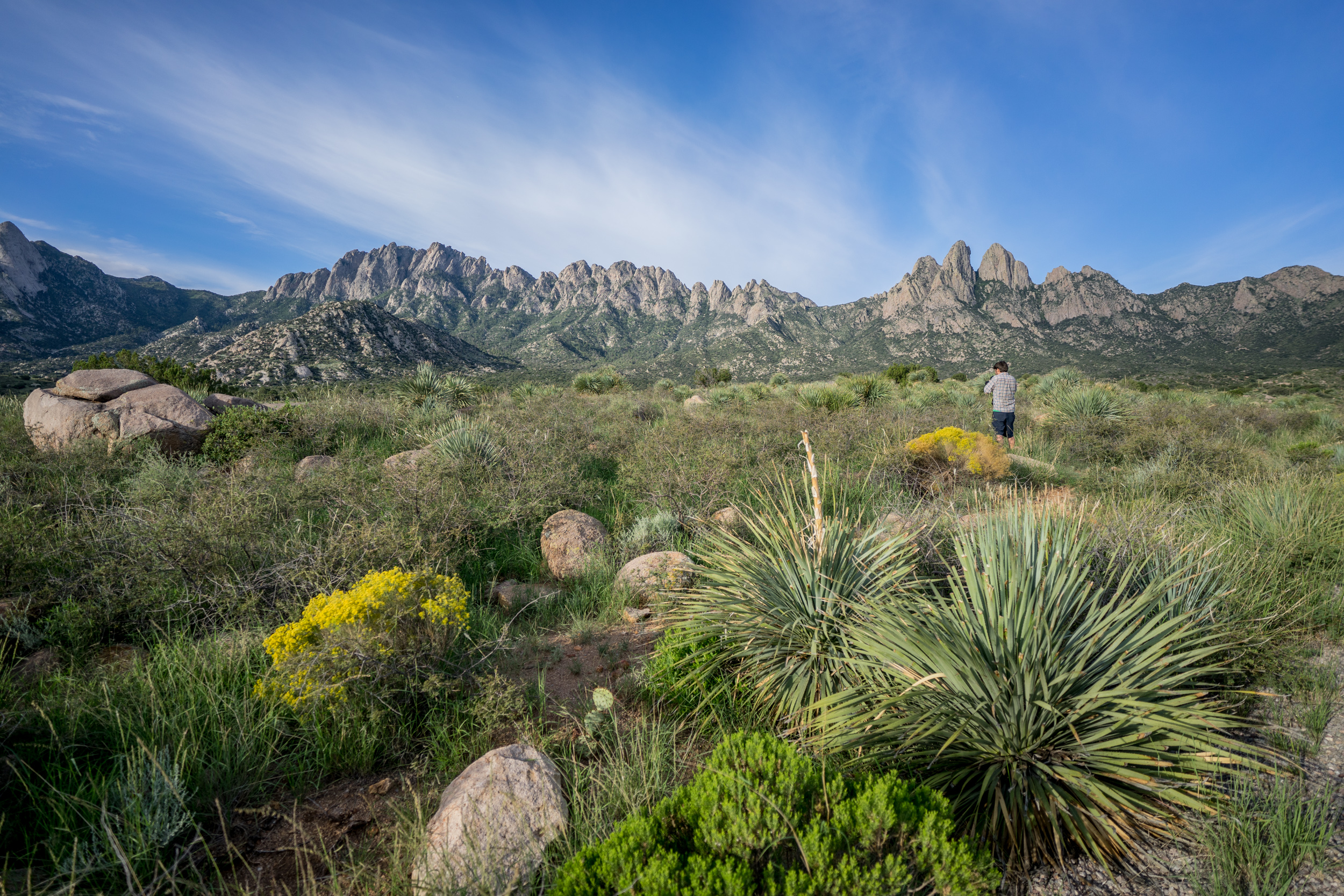 - The impressive Organ Mountains seen on our way to the Dripping Springs campground within the monument