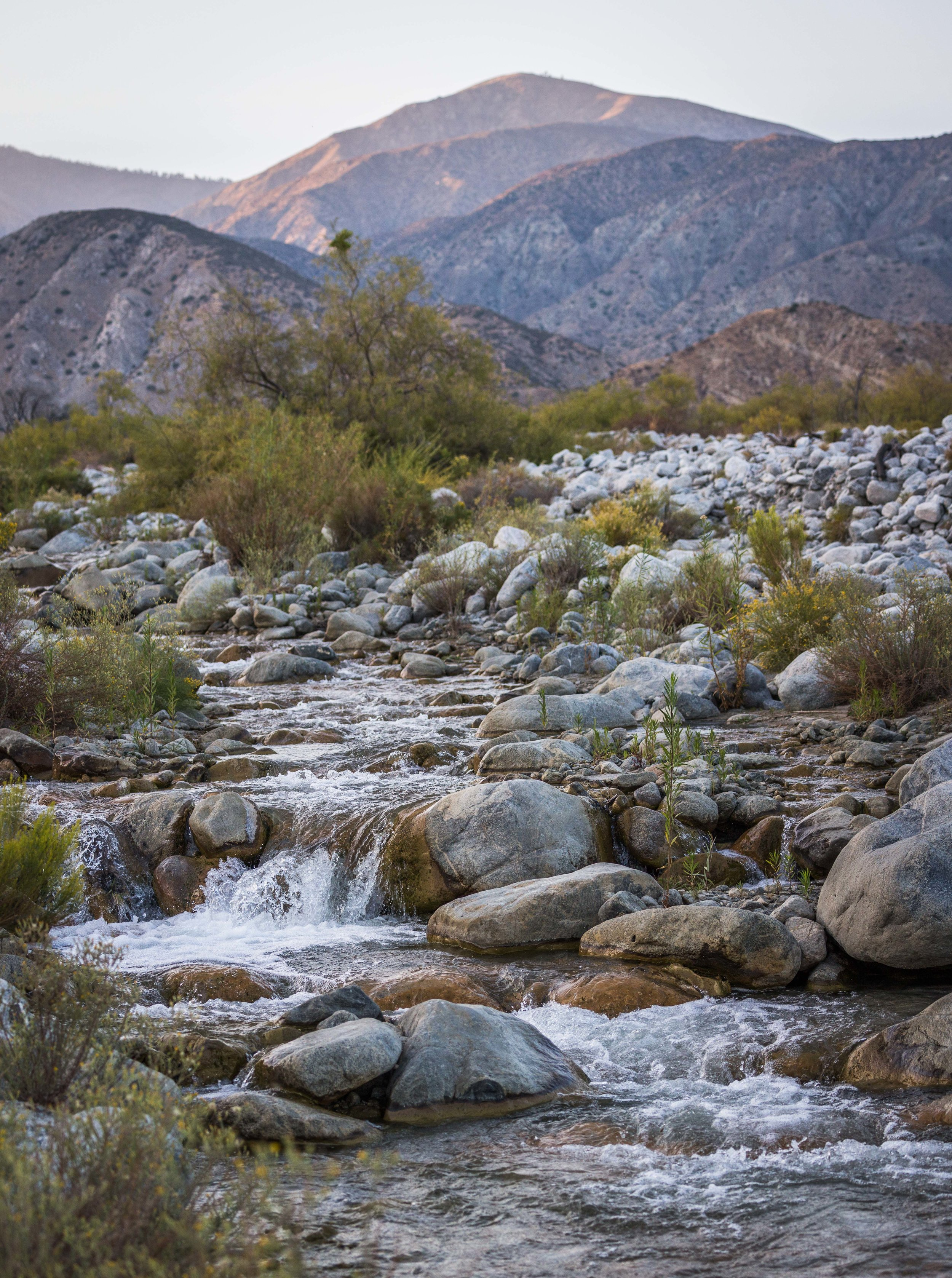 Whitewater River in the Sand to Snow National Monument - It can be accessed from the Whitewater Preserve and is also part of the San Gorgonio Wilderness.