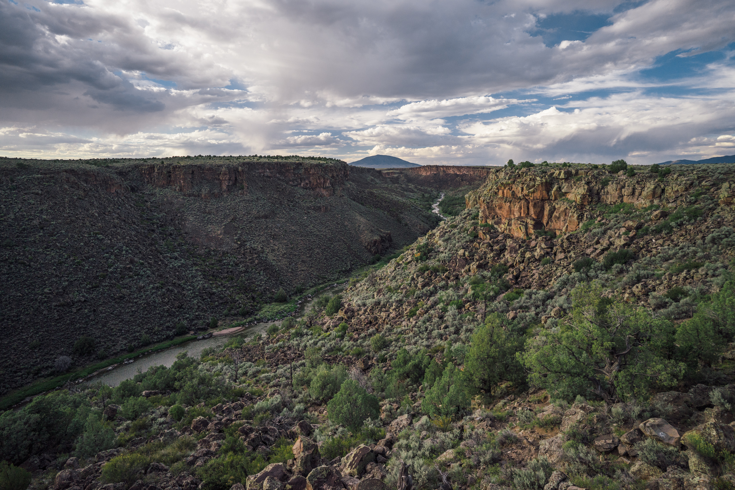 Rio Grande winding its way through its namesake Rio Grande del Norte National Monument in New Mexico  (photo by Andreea Lotak)
