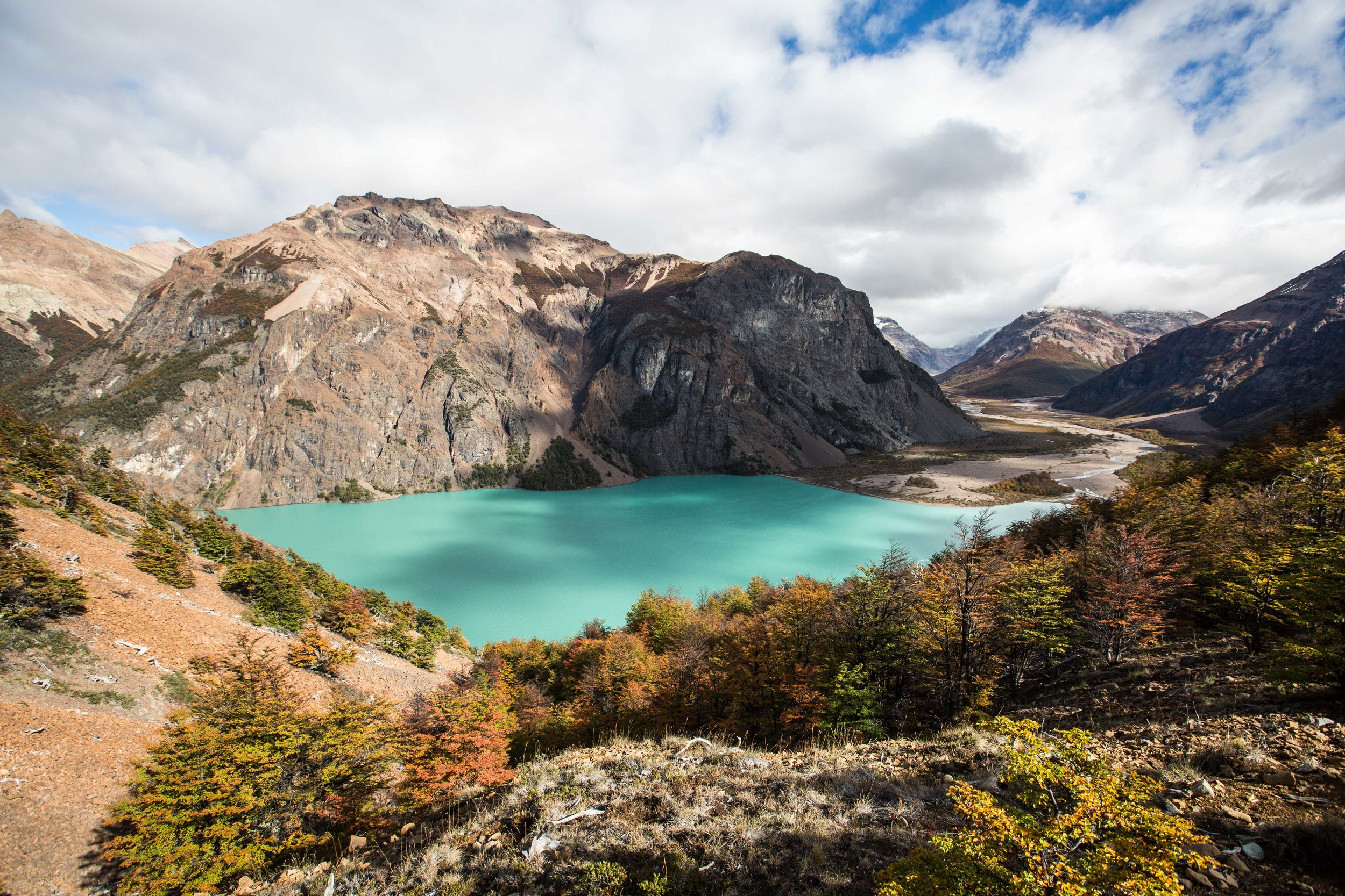 The unbelievable color of Lago Verde in Jeinimeni National Reserve, part of the future Patagonia National Park