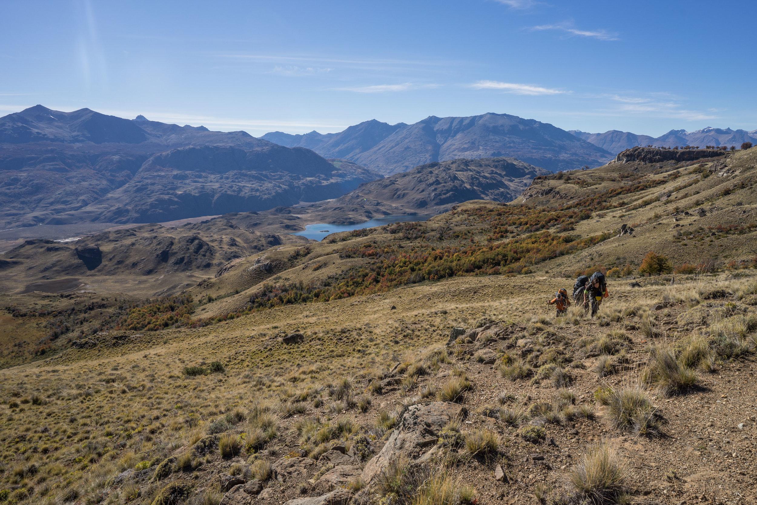 Hiking into Patagonia Park from Siete Lagunas