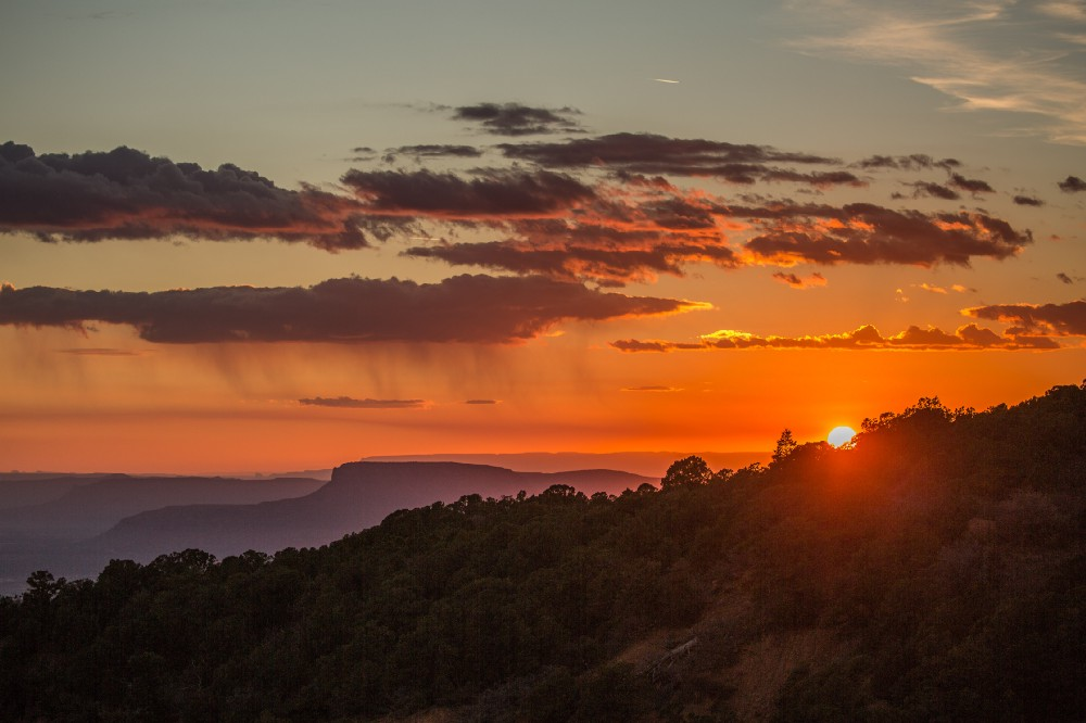 - Sunset over Bears Ears in the Manti-La Sal National Forest, seen from between the two iconic buttes that gave the name of the national monument.