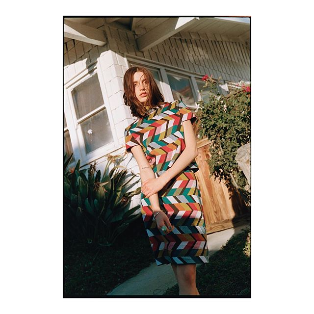Maxine earlier this year @maxinewoodring @visionlosangeles 🎈