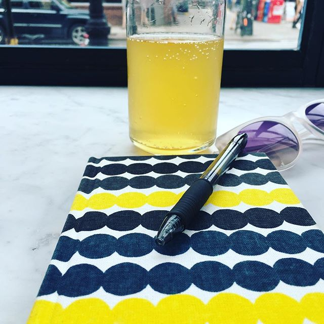 I would cover every spare inch of my life in Yayoi Kusama patterns if I could. But for now, a new Marimekko notebook will have to do. Paired here with kombucha.