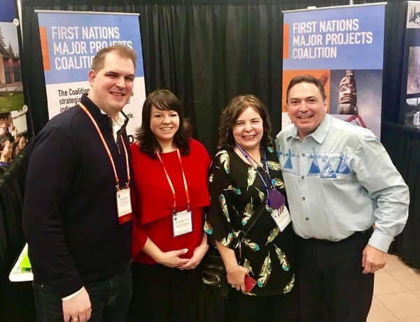 AFN National Chief Perry Bellegarde stops by the Major Projects Coalition booth at the BC Natural Resources Forum in Prince George on January 17, 2018