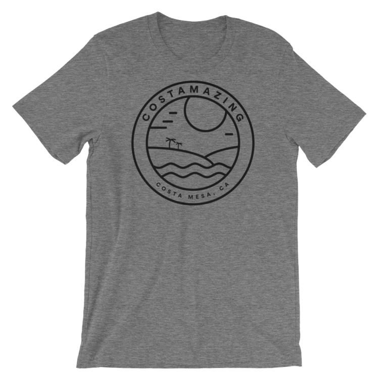 The OG COSTAMAZING shirt that started it all - heather grey with the black badge on the front.  Free shipping .
