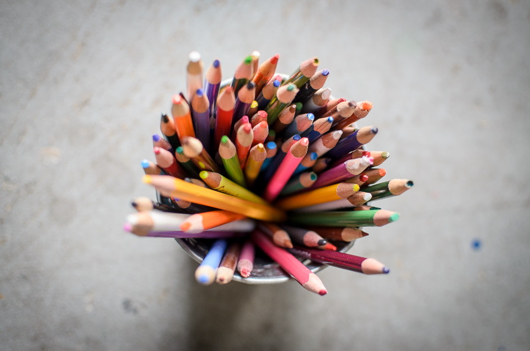 Colored Pencils at Art Outside the Lines