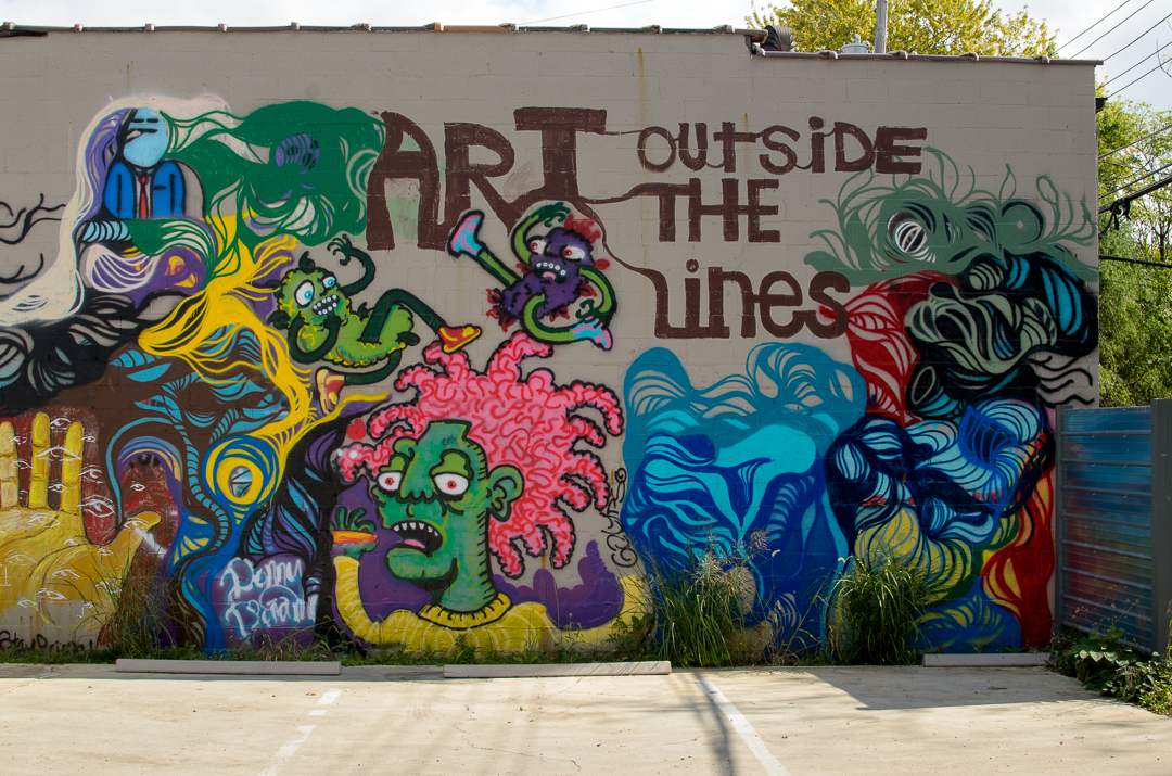 Art Outside the Lines Mural in Columbus, Ohio