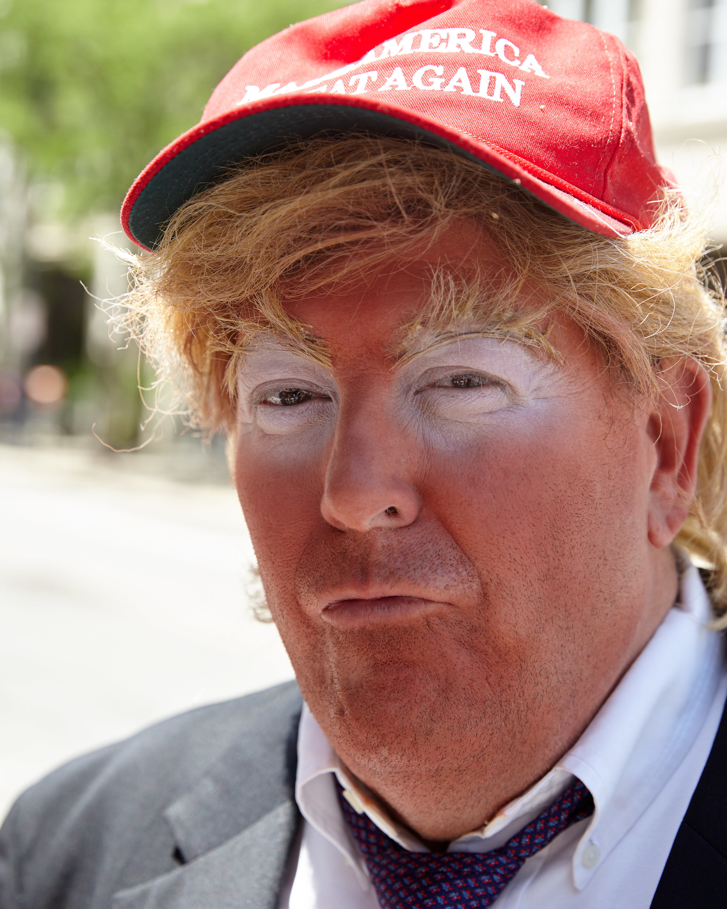 A Donald Trump impersonator mocks President Trump at the Big Gay Dance Party